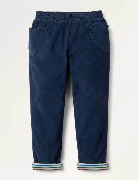 Lined Pull-on Cord Pants