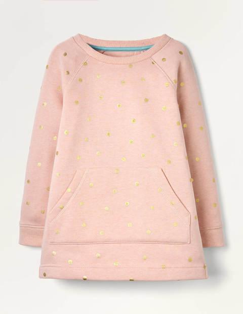 Foil Spot Sweatshirt Tunic