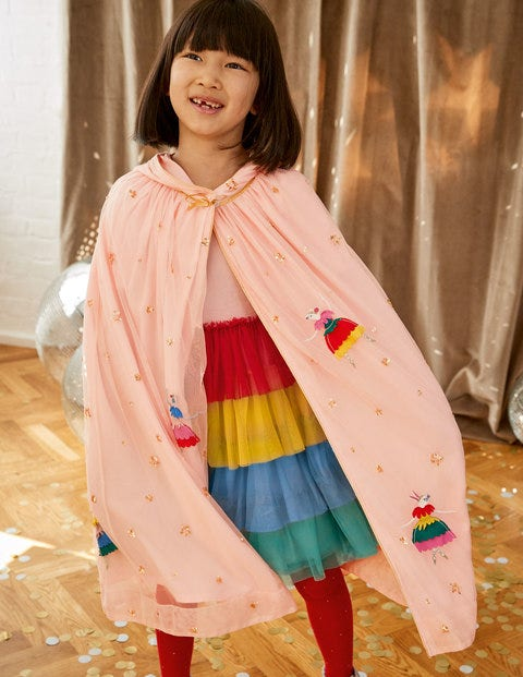 Ballerina Tulle Sequin Cloak - Provence Dusty Pink