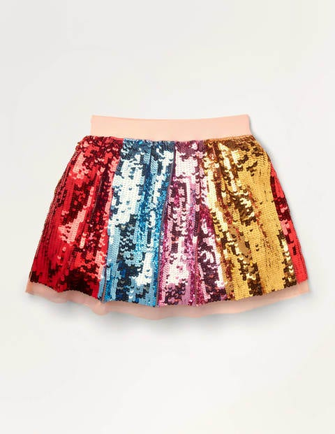Rainbow Sequin Skirt