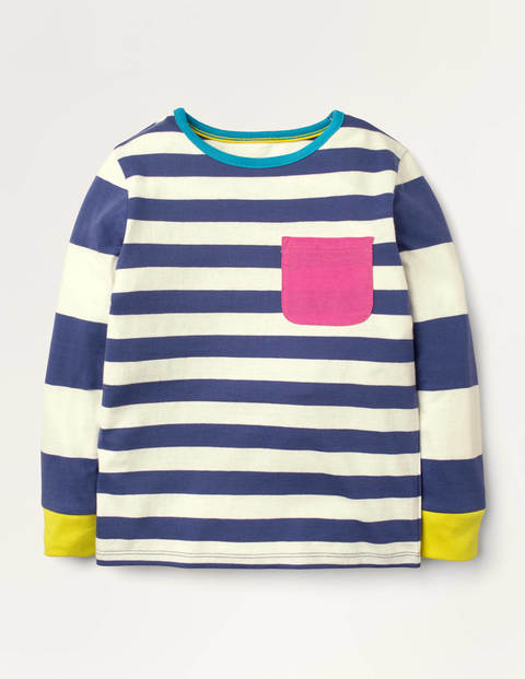 Hotchpotch Stripe T-shirt - Starboard Blue/Ivory