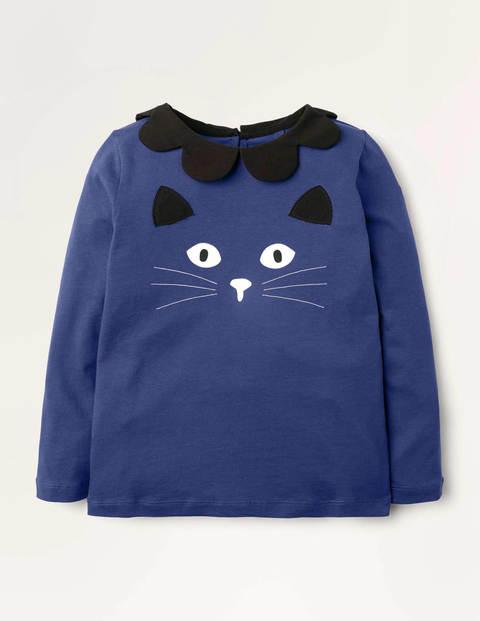 Glow-in-the-dark Cat Top - Blue Glow In The Dark Cat