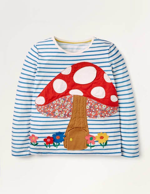 Woodland Lift The Flap T-shirt - Ivory/Blue Toadstool