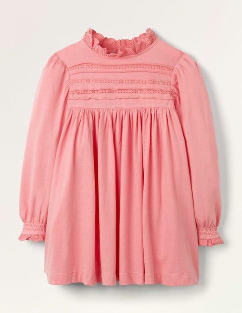 Pin Tuck Jersey Dress
