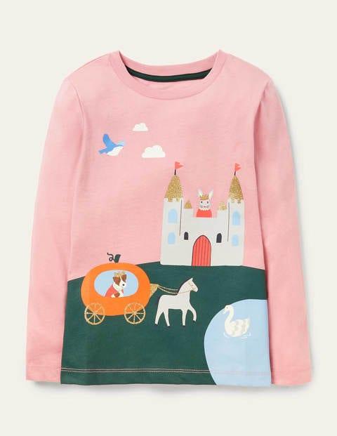 Scene Printed T-shirt - Formica Pink Castle