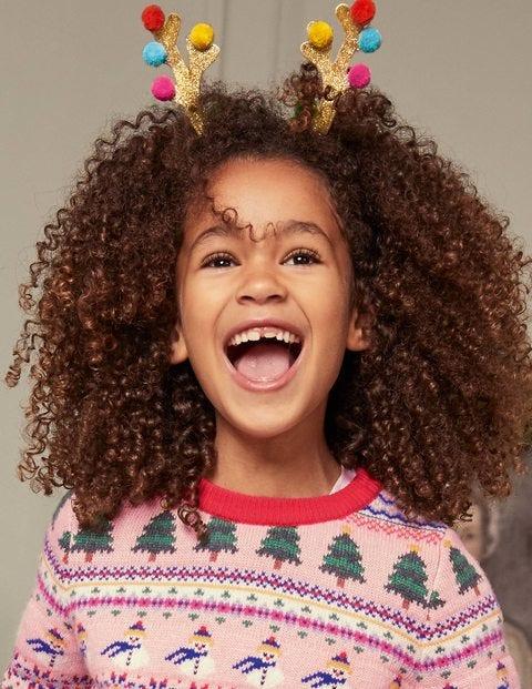Weihnachtlicher Haarreif mit Rentiermotiv - Rentier