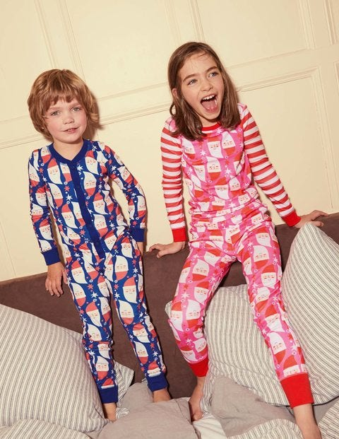 Cosy Long John Pajamas - Tickled Pink Father Christmas