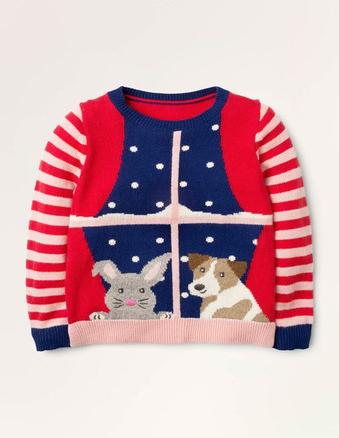 Festive Friends Scene Sweater