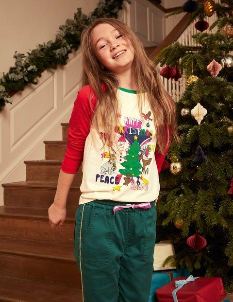Raglan Festive Printed T-shirt