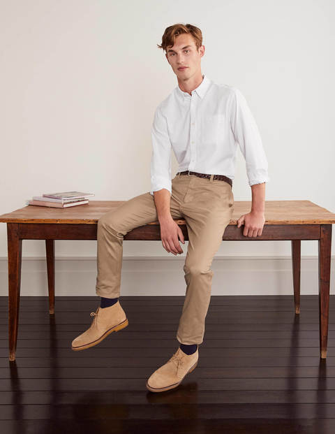 Slim Fit Oxford Shirt - White