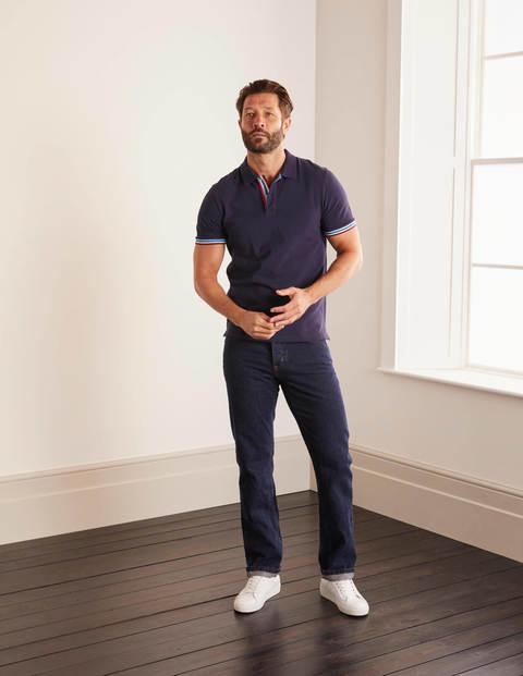Straight Leg Jeans - Dark Rinse Denim