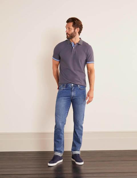 Jeans mit schmalem Bein - Denim, Blaue Waschung