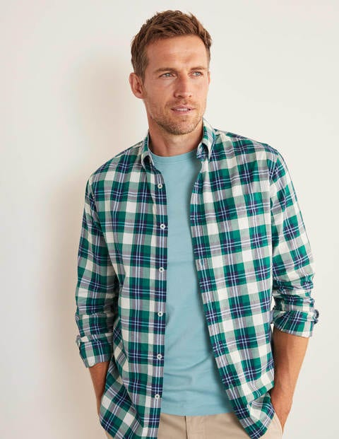 Casual Check Shirt - Forest Green Multi Check
