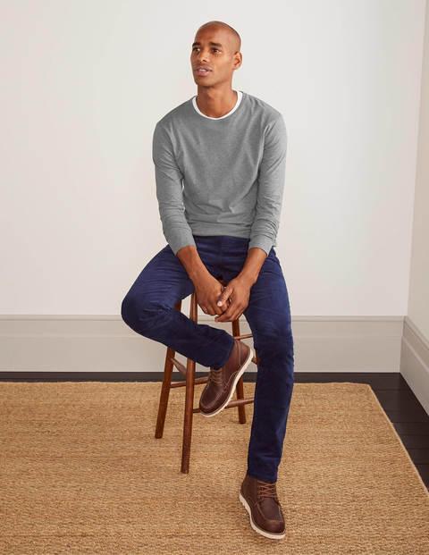 Long Sleeve Washed T-shirt - Grey Marl
