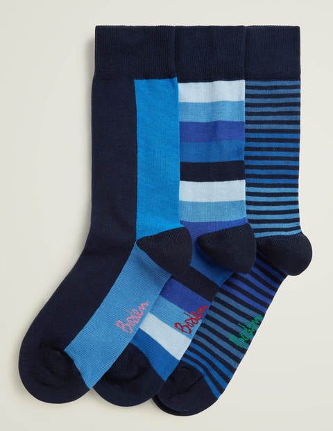 Favourite Socks - Multi Blues Stripe Pack