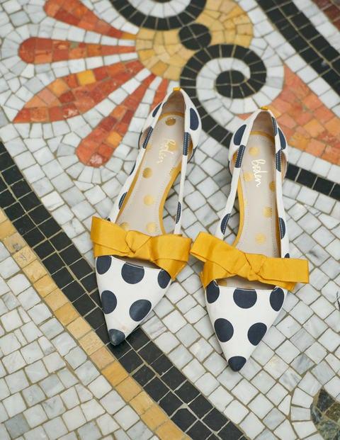 Mollie Kitten Heels - Ivory Spot/ Tuscan Sun