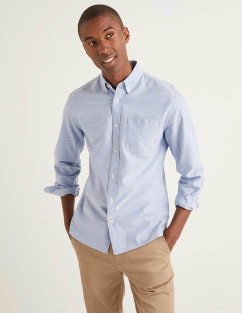 Slim Fit Oxford Shirt - Blue