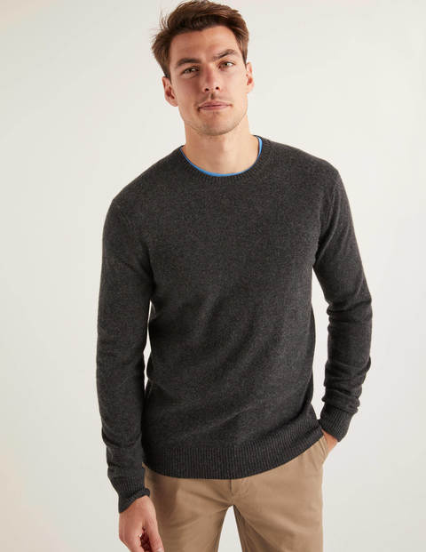 Cashmere Crew Neck - Dark Grey Marl