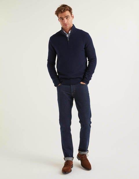 Cashmere Half-Zip - Navy
