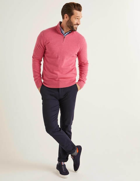Cashmere Half-Zip - Rose Blossom