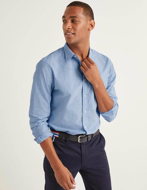 Slim Fit Poplin Cutaway Collar