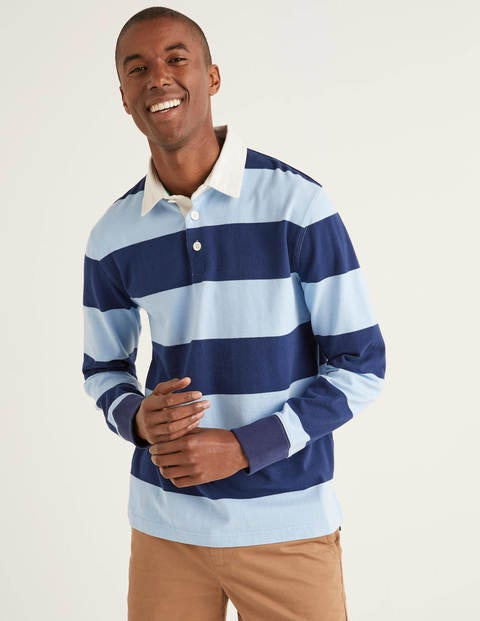 Hutchins Rugby Shirt - Blues Stripe