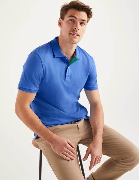 Piqué-Poloshirt - Malibu-Blau