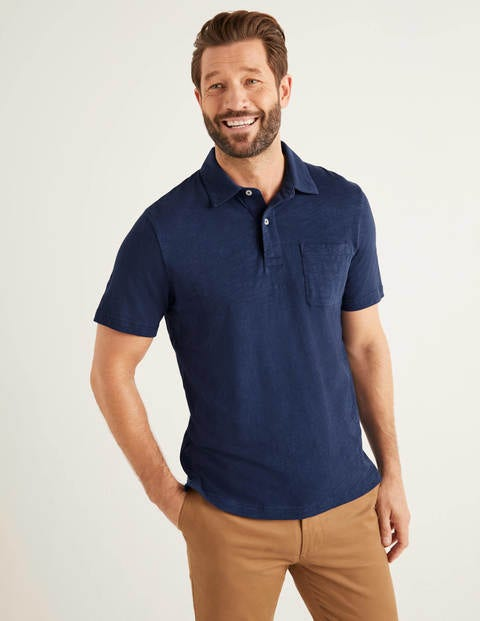 Slub Polo - College Navy