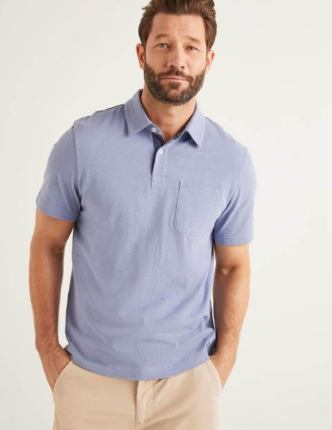 Slub Polo - Thistle Blue