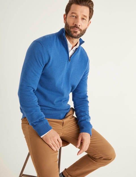 Putney Pullover Mit Halbem Reißverschluss - Königsblau