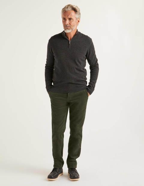 Chunky Cord Trousers - Dark Olive