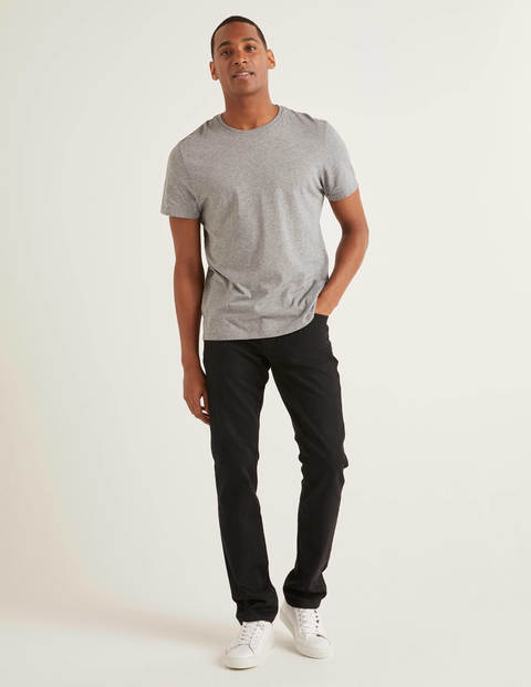 Slim Leg Jeans - Black Denim