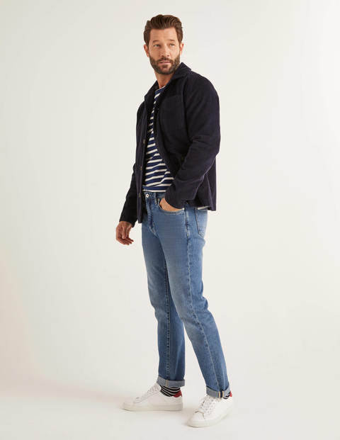 Slim Leg Jeans - Blue Wash Denim