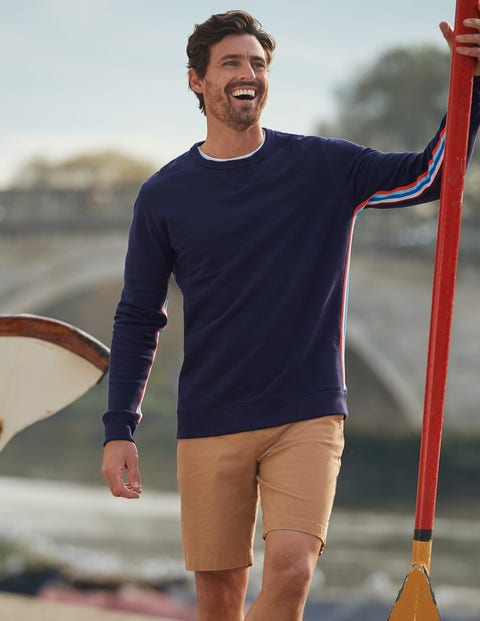 Irvine Sweatshirt - Navy Side Stripe
