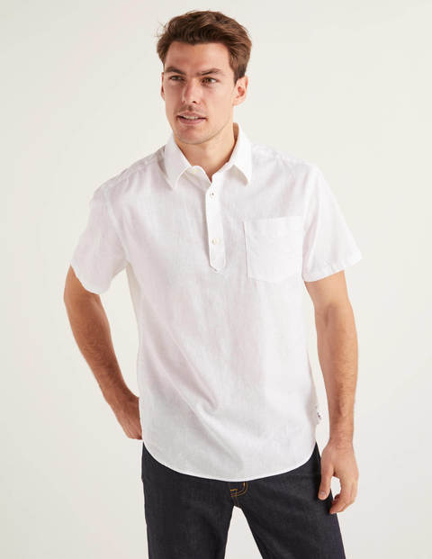 Linen Cotton Popover - White