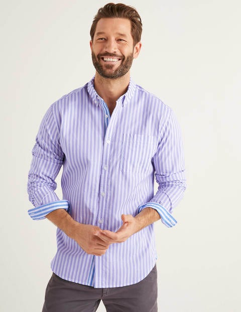 Slim Fit Poplin Stripe Shirt
