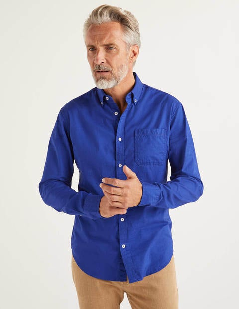 Cotton Triple Stitch Shirt - Blue Wave