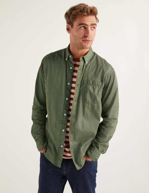 Cotton Triple Stitch Shirt - Washed Khaki