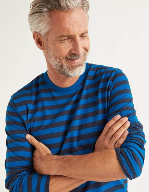 Long Sleeve Stripe T-Shirt - Bold Blue Stripe