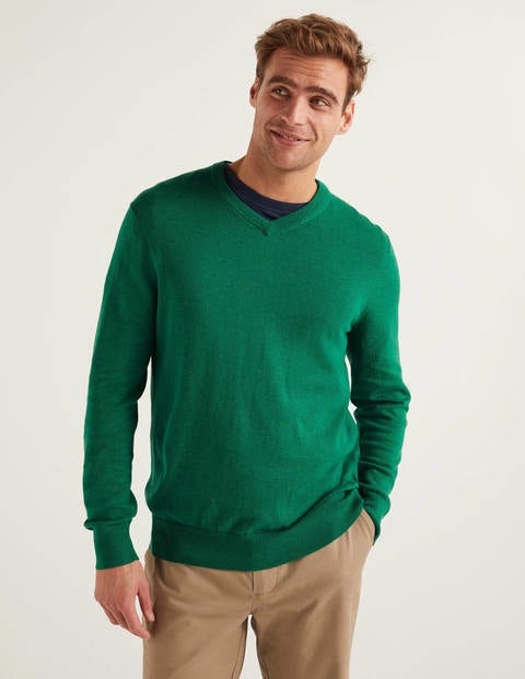 Merino Cotton V-Neck