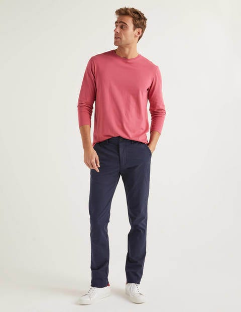 Lightweight Slim Chinos - Navy