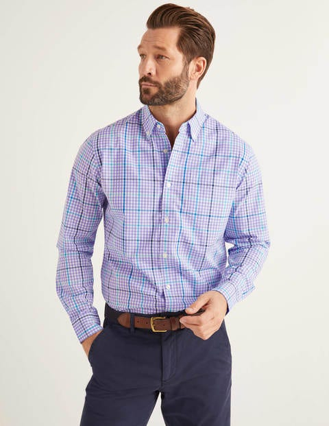 Poplin Gingham Shirt - Cool Violet Multi Gingham