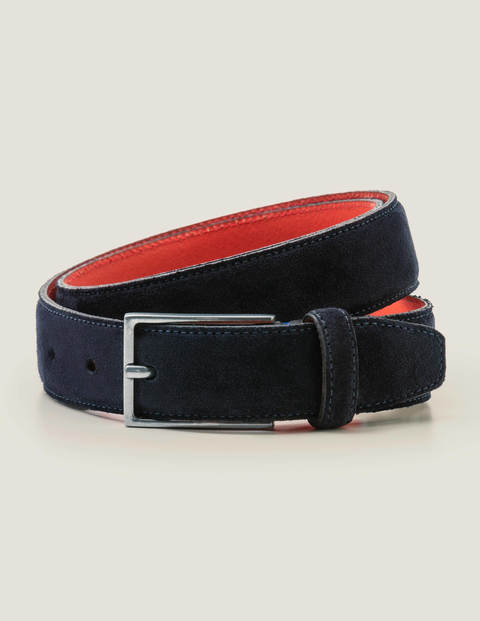 Smart Suede Belt - Navy