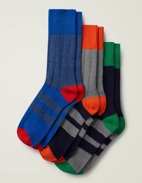 Chunky Boot Socks - Wide Stripe Pack