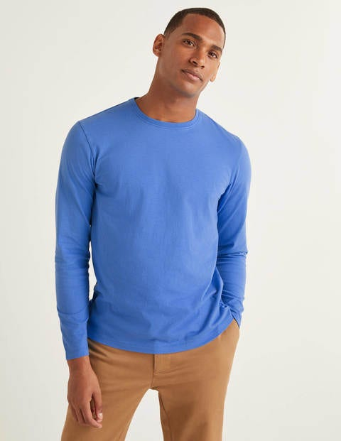 Long Sleeve Washed T-Shirt - Malibu Blue