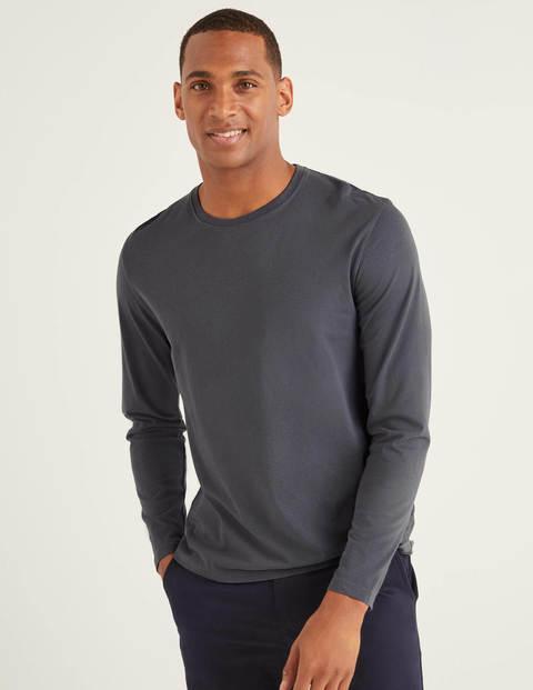 Langärmliges Vorgewaschenes Shirt - London Grau