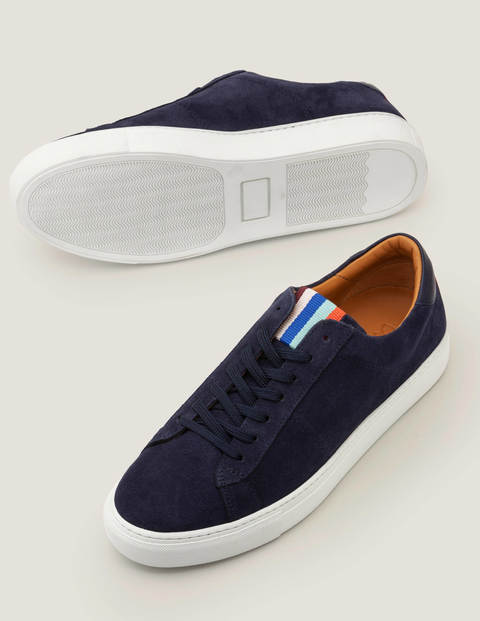 Leather Sneaker - Navy Suede