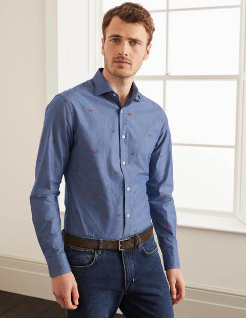 Slim Fit Pattern Shirt