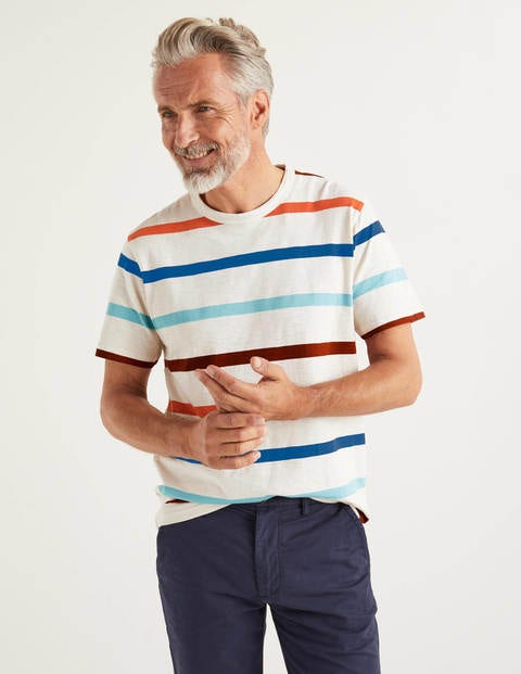 Slub Stripe T-shirt - Oatmeal Multi Stripe