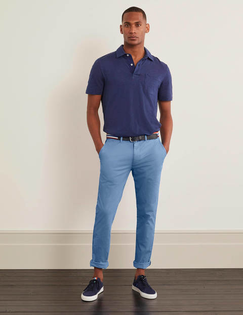 Lightweight Slim Chinos - Storm Blue